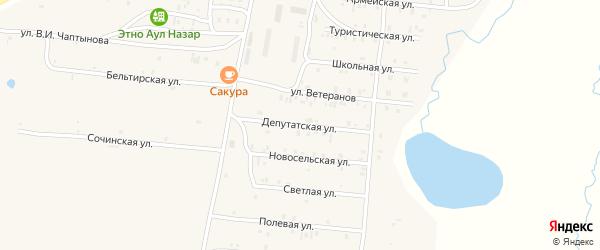 Депутатская улица на карте села Коша-Агача Алтая с номерами домов