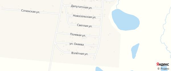 Полевая улица на карте села Коша-Агача Алтая с номерами домов