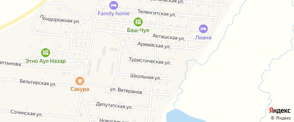 Туристическая улица на карте села Коша-Агача Алтая с номерами домов