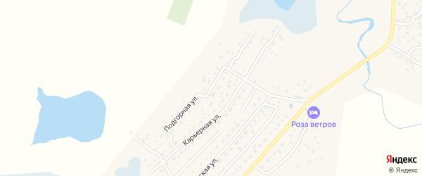 Подгорная улица на карте села Коша-Агача Алтая с номерами домов