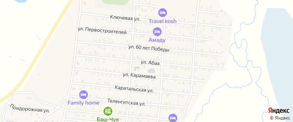 Абая улица на карте села Коша-Агача Алтая с номерами домов