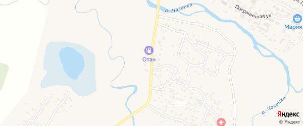 Междуреченская улица на карте села Коша-Агача Алтая с номерами домов