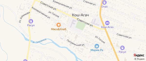 Кооперативная улица на карте села Коша-Агача Алтая с номерами домов
