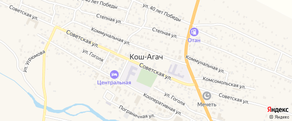 Улица Им.Сейсекенова Тошкен-Турган на карте села Коша-Агача Алтая с номерами домов