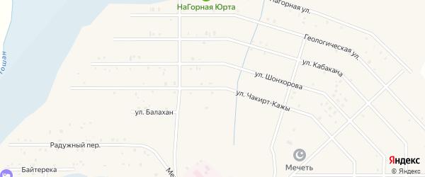 Улица Чакирт-Кажы на карте села Коша-Агача Алтая с номерами домов
