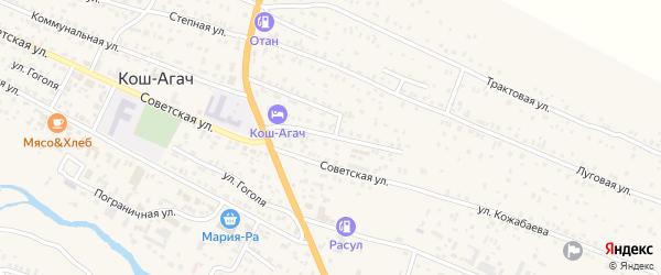 Комсомольская улица на карте села Коша-Агача Алтая с номерами домов
