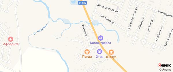 Южная улица на карте села Коша-Агача Алтая с номерами домов