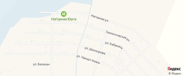 Улица Кабакана на карте села Коша-Агача Алтая с номерами домов