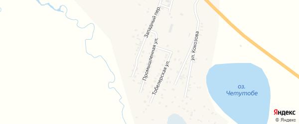 Промышленная улица на карте села Коша-Агача Алтая с номерами домов