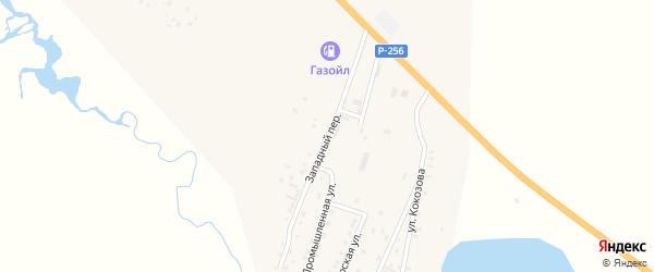 Западный переулок на карте села Коша-Агача Алтая с номерами домов