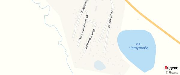 Тобелерская улица на карте села Коша-Агача Алтая с номерами домов