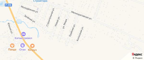 Крайняя улица на карте села Коша-Агача Алтая с номерами домов