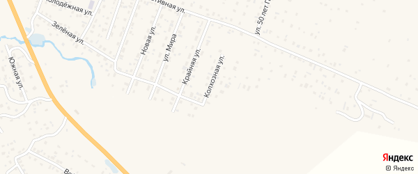 Колхозная улица на карте села Коша-Агача Алтая с номерами домов