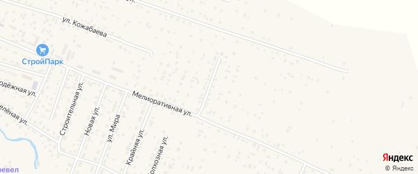 Улица 50 лет Победы на карте села Коша-Агача Алтая с номерами домов