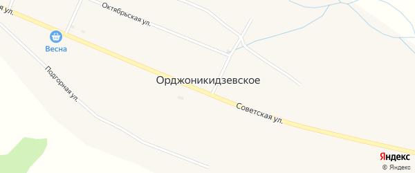 Коммунальный переулок на карте Орджоникидзевского села Хакасии с номерами домов