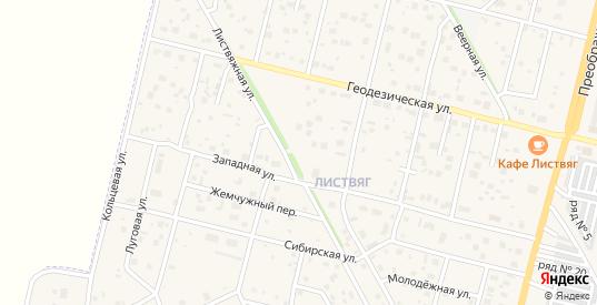 Карта квартала Листвяг в Шарыпово с улицами, домами и почтовыми отделениями со спутника онлайн