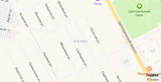 8-й микрорайон в Шарыпово с номерами домов на карте. Спутник и схема онлайн