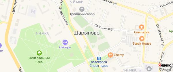 Промбаза Пионерная территория на карте Шарыпово с номерами домов