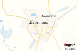 Карта г. Шарыпово Красноярский край