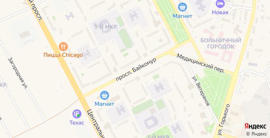 Проспект Байконур в Шарыпово с номерами домов на карте. Спутник и схема онлайн