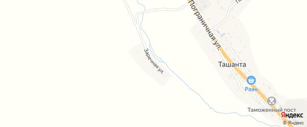 Заречная улица на карте села Ташанты Алтая с номерами домов