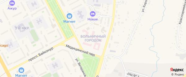 Больничный городок на карте Шарыпово с номерами домов