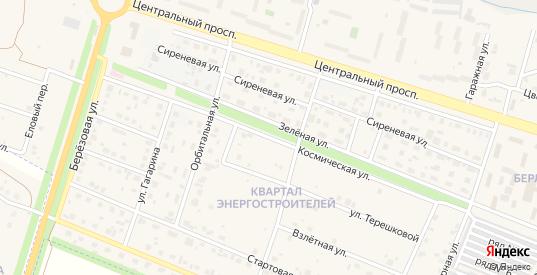 Космическая улица в Шарыпово с номерами домов на карте. Спутник и схема онлайн