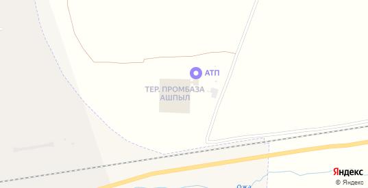 Территория Промбаза Ашпыл в Шарыпово с номерами домов на карте. Спутник и схема онлайн