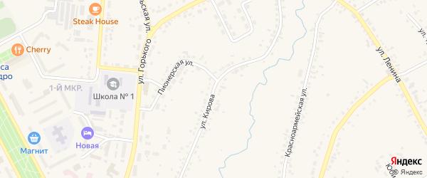 Улица Кирова на карте Шарыпово с номерами домов