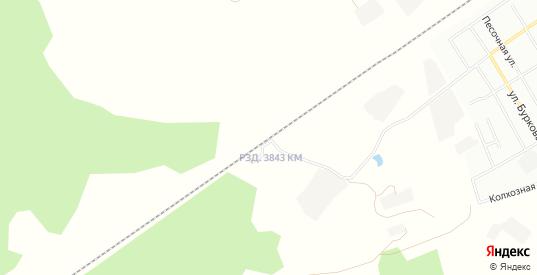 Микрорайон Пригород 3843 на карте Боготола с номерами домов