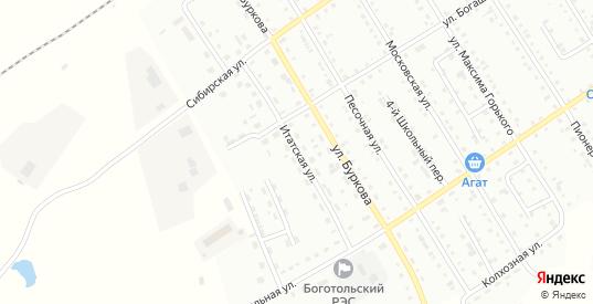 Итатская улица в Боготоле с номерами домов на карте. Спутник и схема онлайн