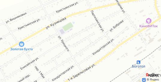 Поперечный 1-й переулок в Боготоле с номерами домов на карте. Спутник и схема онлайн