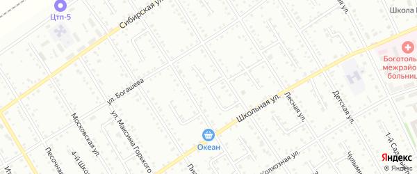 Полевой 1-й переулок на карте Боготола с номерами домов
