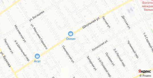 Западная улица в Боготоле с номерами домов на карте. Спутник и схема онлайн