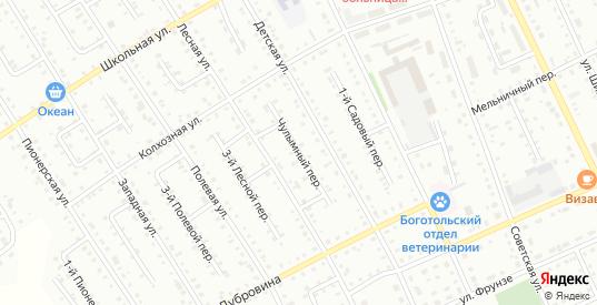 Чулымный переулок в Боготоле с номерами домов на карте. Спутник и схема онлайн
