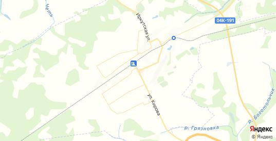 Карта Боготола с улицами и домами подробная. Показать со спутника номера домов онлайн