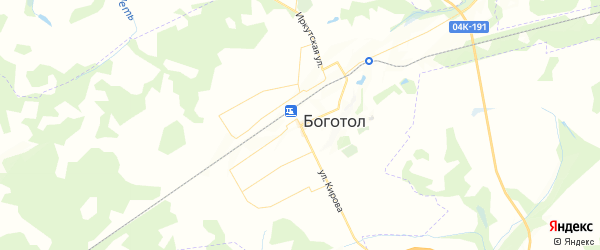 Карта Боготола с районами, улицами и номерами домов