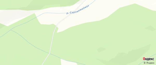 Карта Сахарного поселка в Хакасии с улицами и номерами домов