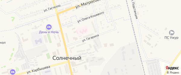 Улица Гагарина на карте Солнечного поселка с номерами домов