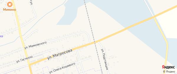 Линейный переулок на карте Ужура с номерами домов