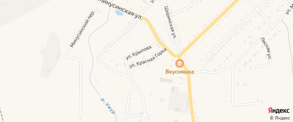 Улица Красная Горка на карте Ужура с номерами домов