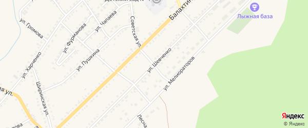 Улица Шевченко на карте Ужура с номерами домов