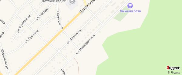 Улица Мелиораторов на карте Ужура с номерами домов