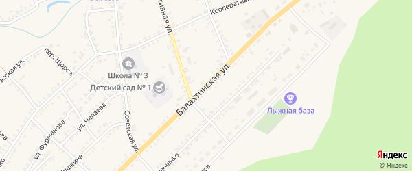 Балахтинская улица на карте Ужура с номерами домов