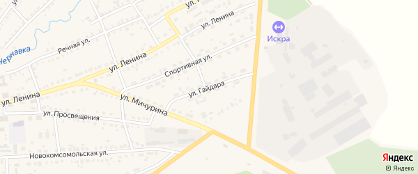 Улица Гайдара на карте Ужура с номерами домов