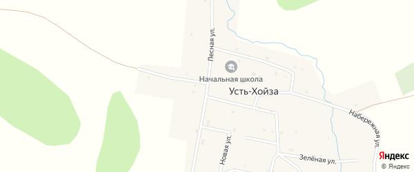 Лесная улица на карте деревни Усть-Хойзы Хакасии с номерами домов