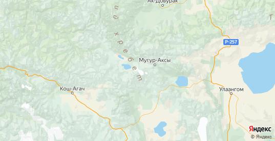Карта Монгун-тайгинского района республики Тыва с городами и населенными пунктами