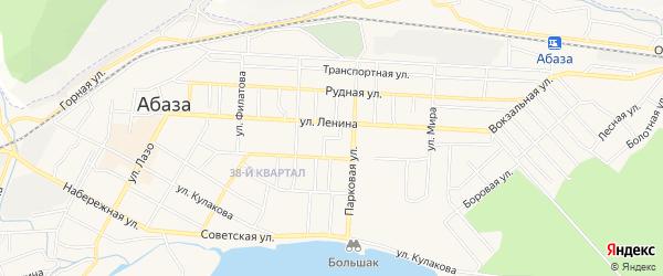 ГСК Г СК В РАЙОНЕ УЛИЦЫ ЛЕРМОНТОВА на карте Абазы с номерами домов
