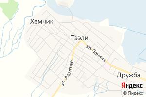 Карта с. Тээли Республика Тыва