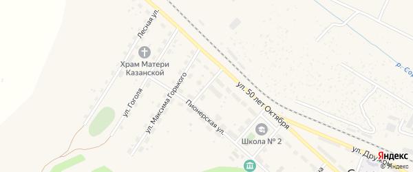 Улица Чапаева на карте Сорска с номерами домов